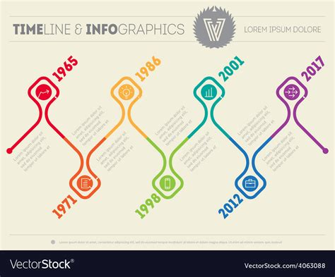 Timeline Web Template Free by Horizontal Infographic Timelines Web Template For Vector Image