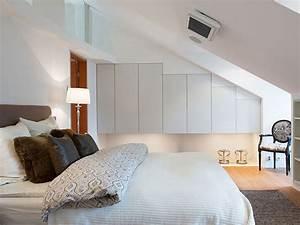 Deluxe, Attic, Bedroom, Interior, Design, 7734