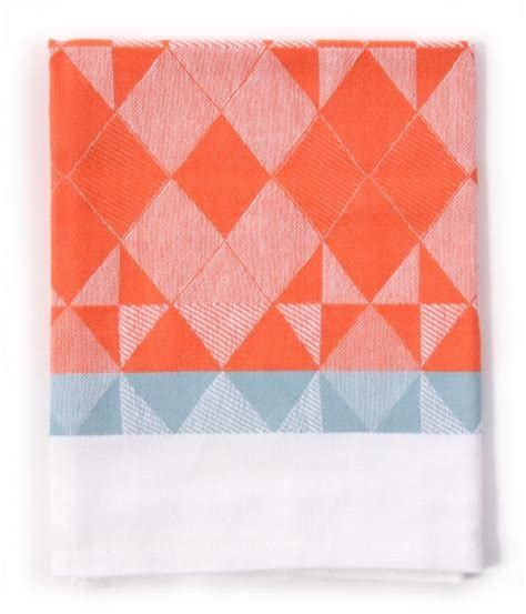 light blue kitchen towels jaquard woven kitchen towels in coral light blue by rie 6965