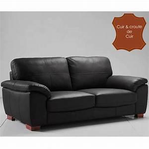canape cuir 3 places fixe vancouver noir anniversaire With boutique canape cuir