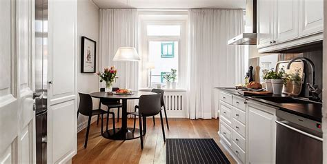 Charming Swedish Style Apartment in Cappuccino Color