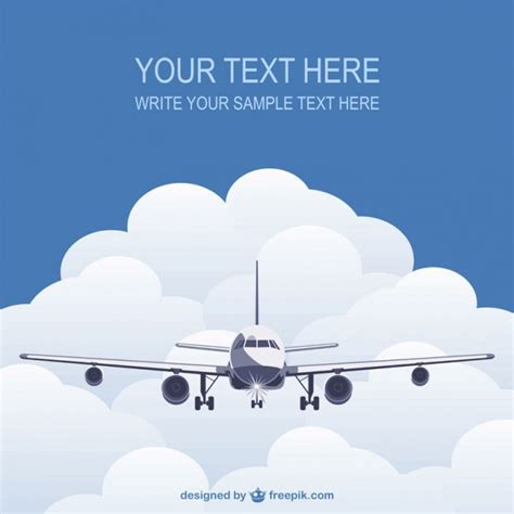 template  flying plane vector