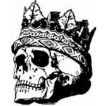 Skull Crown Drawing Death King Retro Tattoo