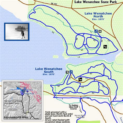 state wenatchee lake parks snow sno park wa map play washington recreation pdf