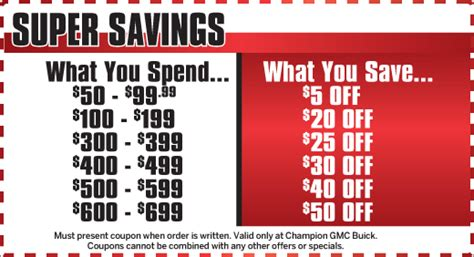 Buick Service Coupons by Auto Service Specials Howell Chion Gmc Buick