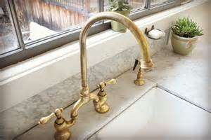 unlacquered brass bridge faucet house ideas pinterest