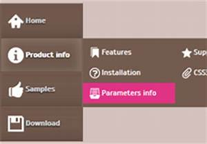 css3 menu bar css navigation bar With html side menu bar template