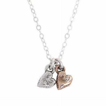 Necklace Mother Children Charm Heart Bits Jewelry