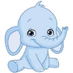 Blue Baby Elephant Clip Art