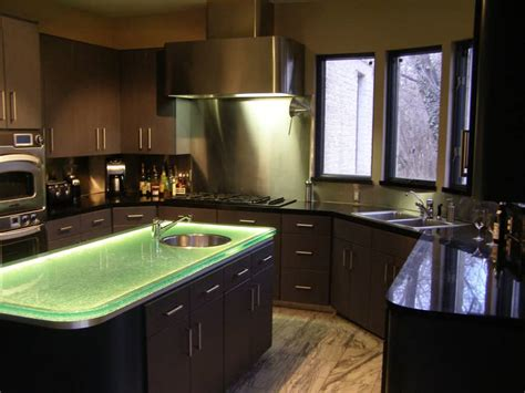 glass top kitchen island glass countertop island with led lighting designed by cgd