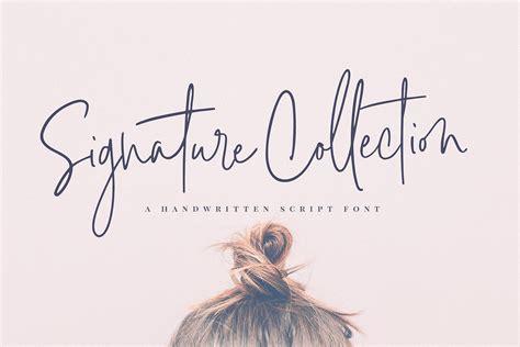 Signature Collection Script Font