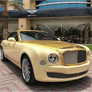 Bentley Mulsanne In Gold Variety Is The Spice Of Life