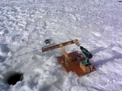 automatic jigging rod  ice fishing youtube