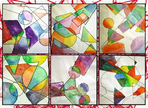 Abstract Shapes Overlapping by Artisan Des Arts Geometric Overlapping Shapes