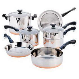 revere   pc copper bottom set cookware set cookware sets revere ware