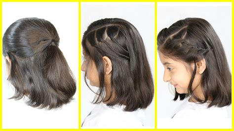 simple cute hairstyles   shortmedium hair mymissanand youtube
