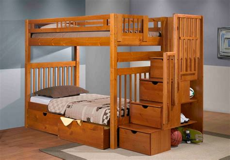bunk bed staircase bunk bed pecan mattress superstore