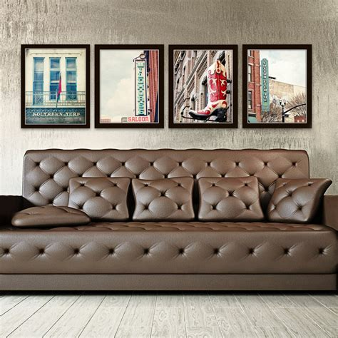 pictures for wall decor nashville wall industrial decor city photography set of 4