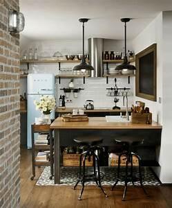 Deco loft industriel un studio super en brique et bois a for Cuisines loft inspiration cuisine loft deco 9