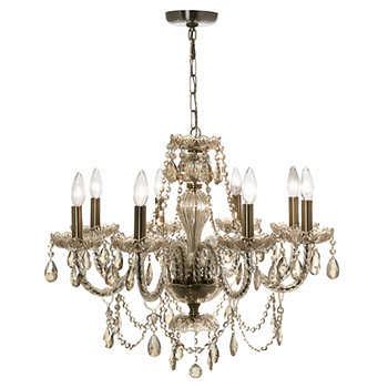 bronze chandelier with accents 8 light golden teak chandelier with bronze accents