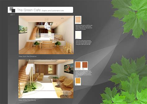 cafe design sustainable green concept  behance