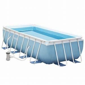 Piscine Tubulaire Intex : piscine tubulaire rectangulaire intex prism frame 4m x 2m x 1m ~ Nature-et-papiers.com Idées de Décoration