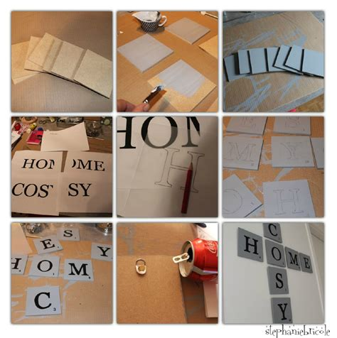 diy une d 233 co murale inspiration scrabble st 233 phanie bricole