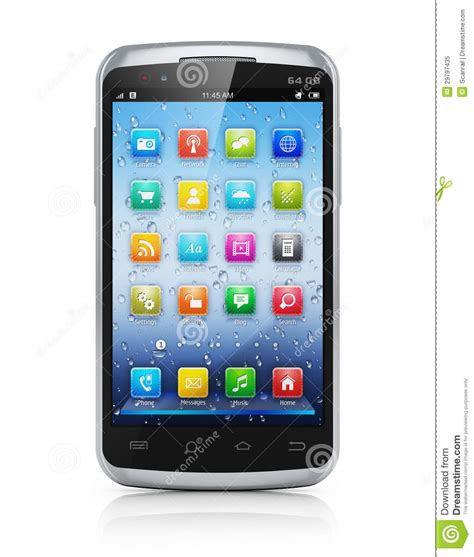 modern smartphone modern touchscreen smartphone royalty free stock photo