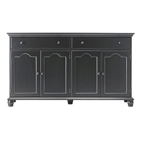 Black Wood Sideboard by Sideboard Buffet Distressed Finish Wood Black Kitchen