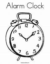 Clock Coloring Alarm Built California Usa sketch template