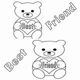 Coloring Pages Friend Printable sketch template