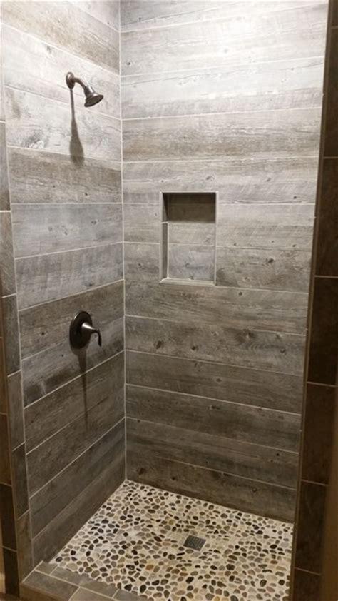 rustic bathroom tile barnwood tile shower rustic bathroom Rustic Bathroom Tile