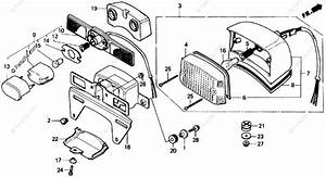 Honda Motorcycle 1985 Oem Parts Diagram For Taillight