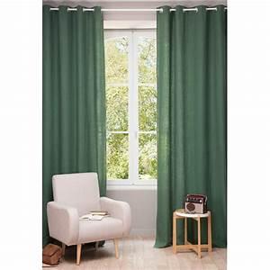 Rideaux En Lin Lavé : rideau illets en lin lav vert sapin 130 x 300 cm maisons du monde ~ Teatrodelosmanantiales.com Idées de Décoration