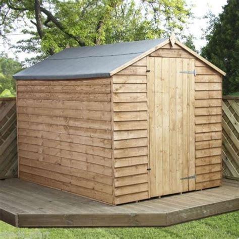 overlap wooden windowless apex garden shed single
