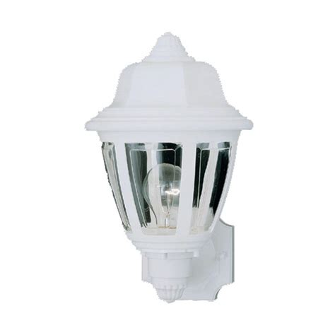 lighting 1 light matte white outdoor wall mount lantern sl94408 the home depot