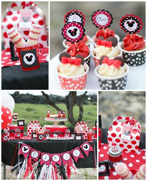 karas party ideas minnie mouse polka dot picnic party