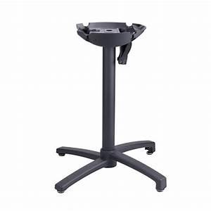 Pied De Table Pliant : pied x one rabattable aluminium noir ~ Teatrodelosmanantiales.com Idées de Décoration
