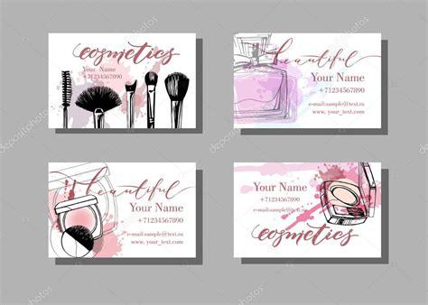 makeup artist business cards vektornoe izobrazhenie