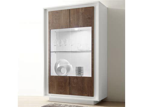 vitrine blanc laque mat  couleur bois malt vente de