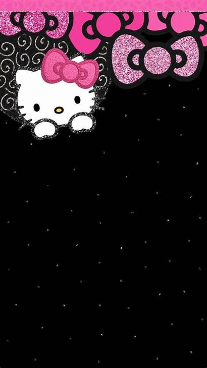 Kitty Hello Wallpapers Backgrounds Iphone Gambar Hitam