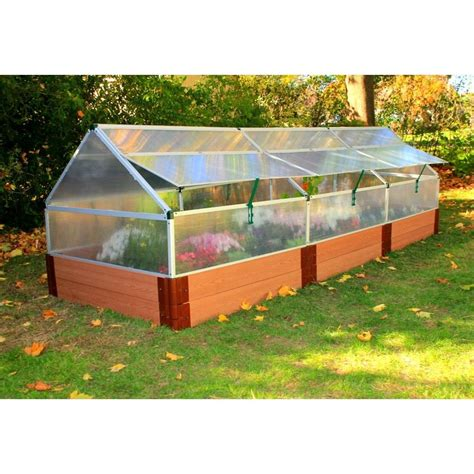 """4' X 12' Polycarbonate Greenhouse With 12"""" Tall Composite"""