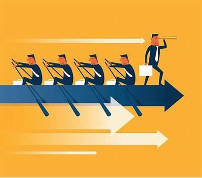Teamwork Rowing Vector Illustration Sport Illustrations Clip