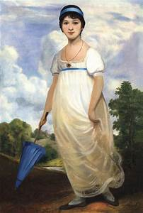 Adolescent Jane Austen Painting by Philippe Plouchart