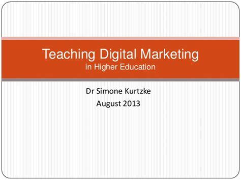 digital marketing education teaching digital marketing in higher education