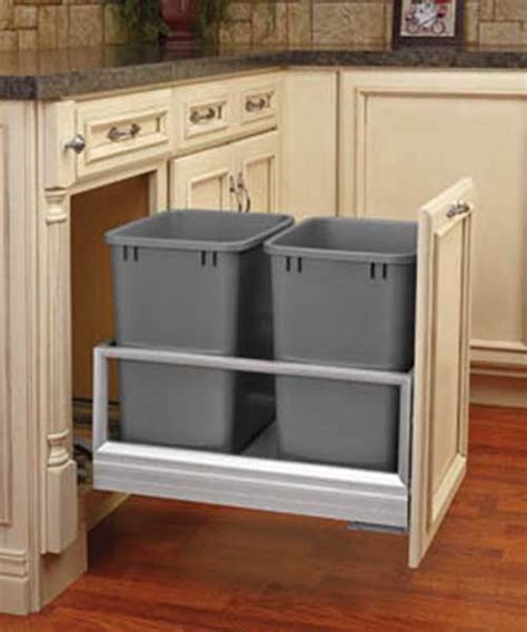 30 QT Soft Close Double Bin Trash Can Pull Out