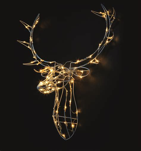 illuminated reindeer head wall light by lime tree london