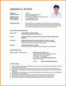 Latest Curriculum Vitae Sample