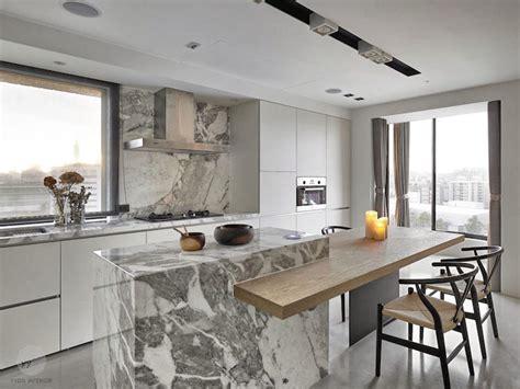 coin repas cuisine moderne zoom sur les points forts de la cuisine moderne avec îlot