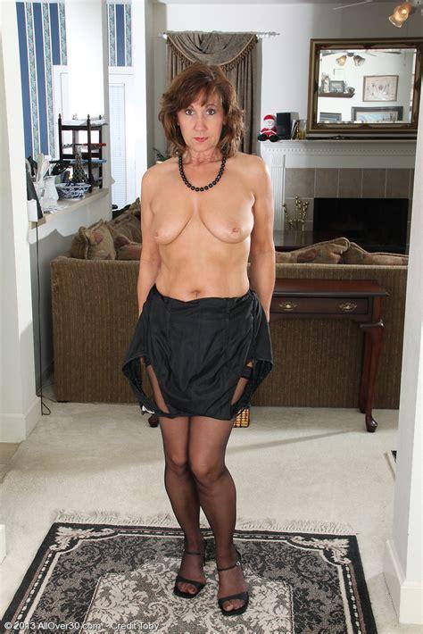 Elegant Old Lynn Slips Off Her Evening Dress All Over 30